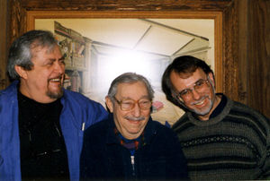 Bauer with Milt Kort and Stephen Minch, c. 1998