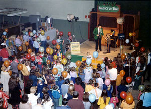 The Mr. Trix MagicFun Time Mall Show, c. 1971, with Bauer as the MagicFun Man